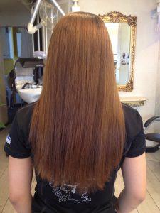 Efter hårglatning